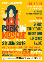 Affiche du Rock'in Kiosque 2019